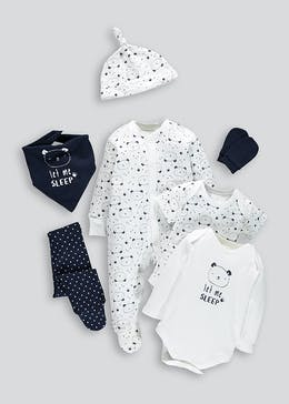 Unisex Bear 7 Piece Set (Tiny Baby-9mths)