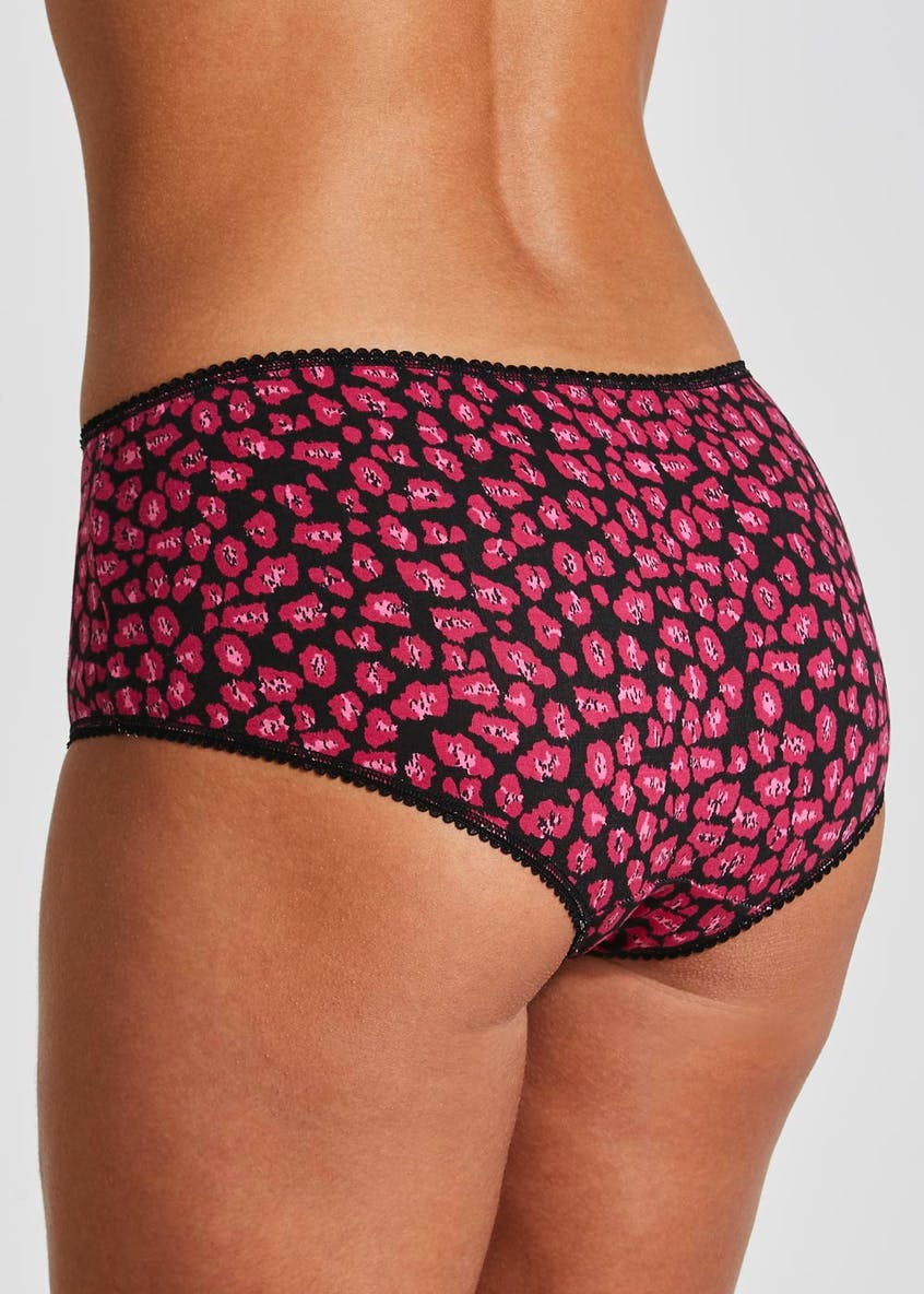 5 Pack Animal Print Short Knickers