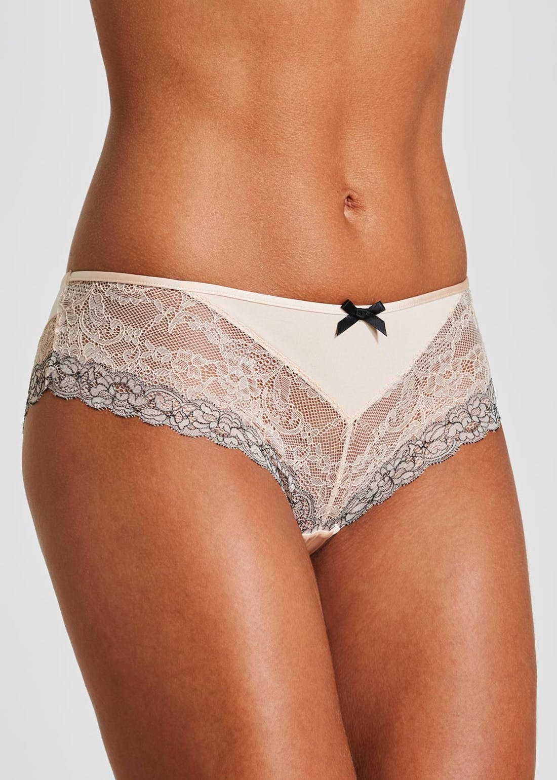 Two Tone Lace High Leg Knickers