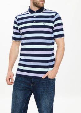 Lincoln Block Stripe Oxford Polo Shirt