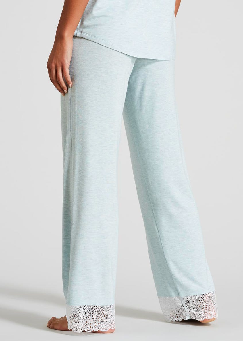 Lace Trim Viscose Pyjama Bottoms