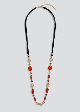 Wicker Multi Bead Necklace