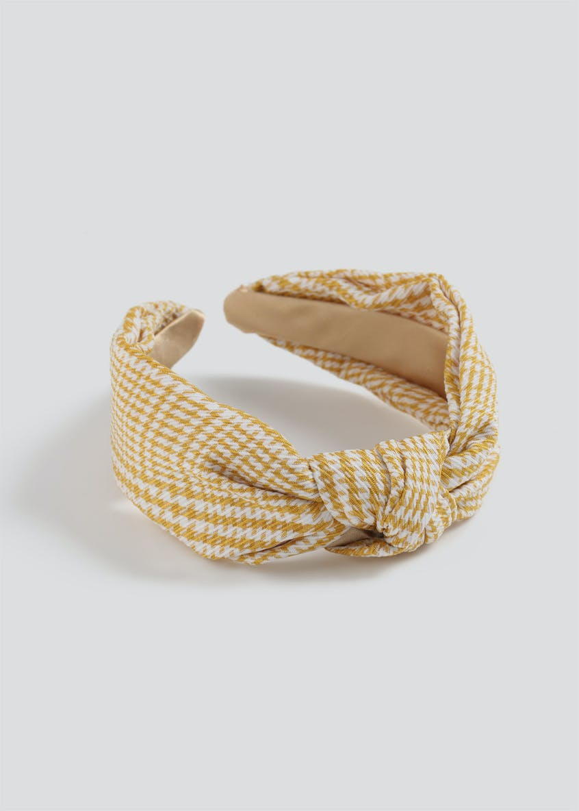 Gingham Knot Head Band.