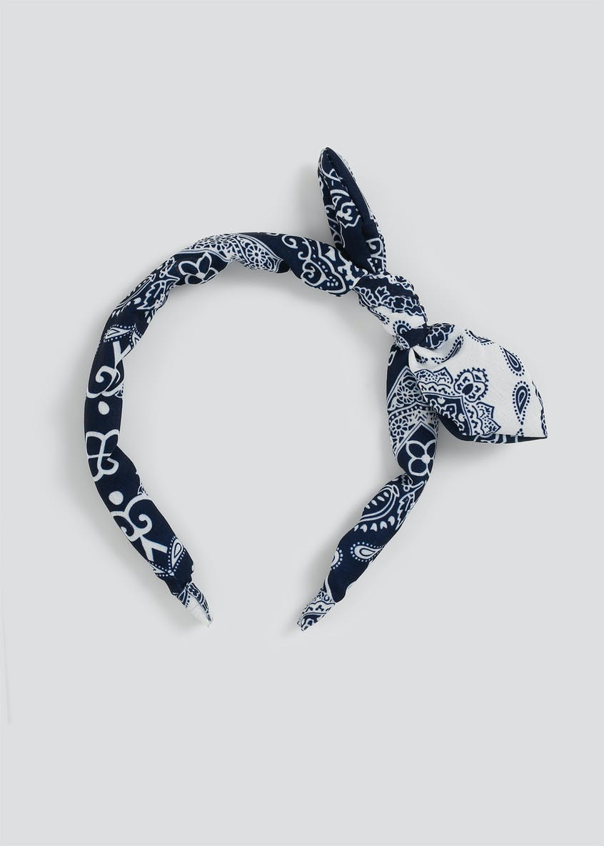 Paisley Bow Headband