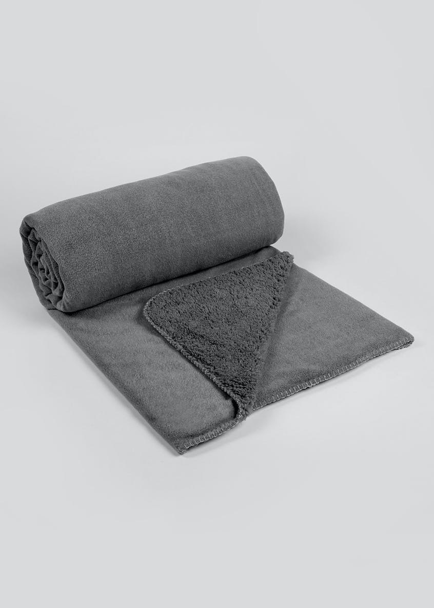 Fleece Reverse Throw Blanket (180cm x 150cm)