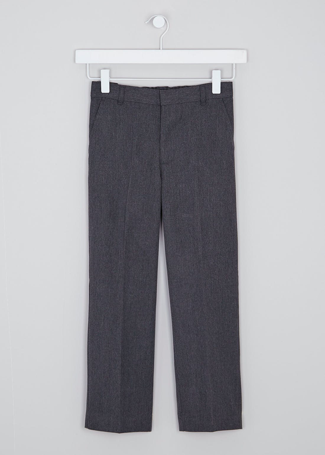 Boys Grey 2 Pack Classic Fit School Trousers (3-13yrs)