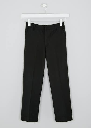 Boys Black 2 Pack Classic Fit School Trousers (3-16yrs)