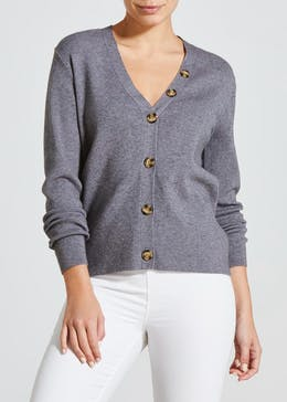 Button Front Boyfriend Cardigan