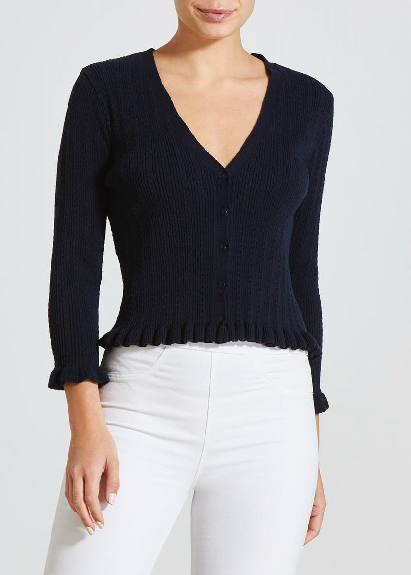 Frill Cropped Cardigan