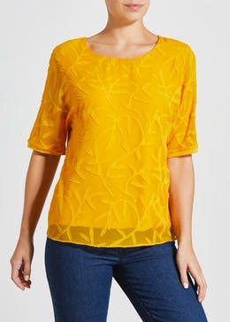 Textured Woven Front Top