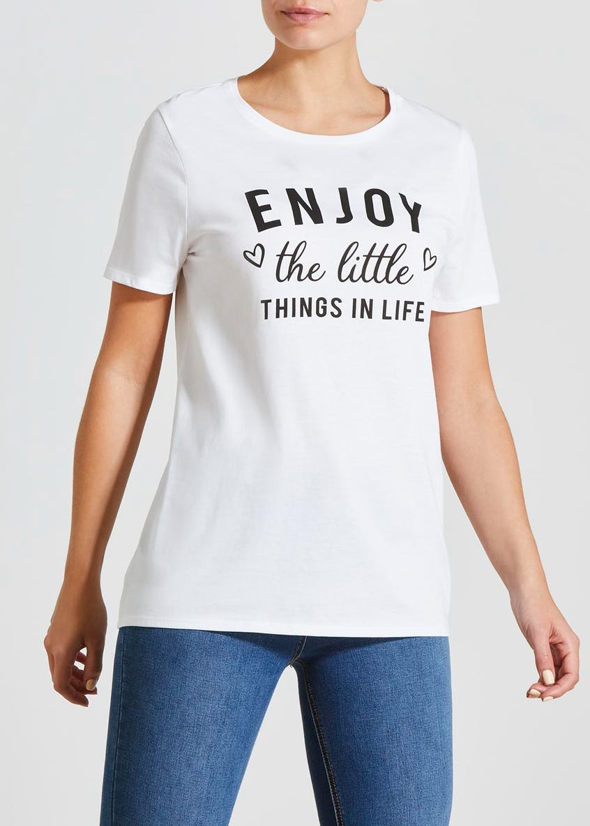 Enjoy Slogan T-Shirt
