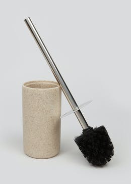 Sandstone Effect Toilet Brush & Holder (37cm x 10cm)