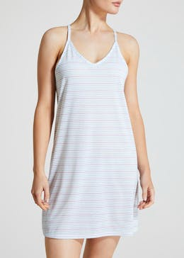 2 Pack Stripe Strappy Nighties