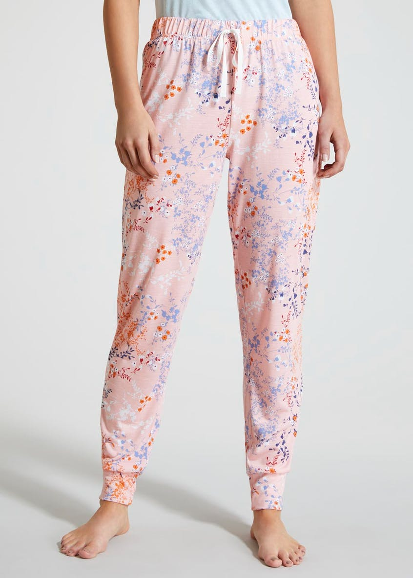 Mix & Match Floral Cuffed Pyjama Bottoms
