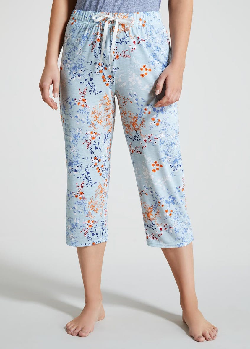 Mix & Match Floral Capri Pyjama Bottoms