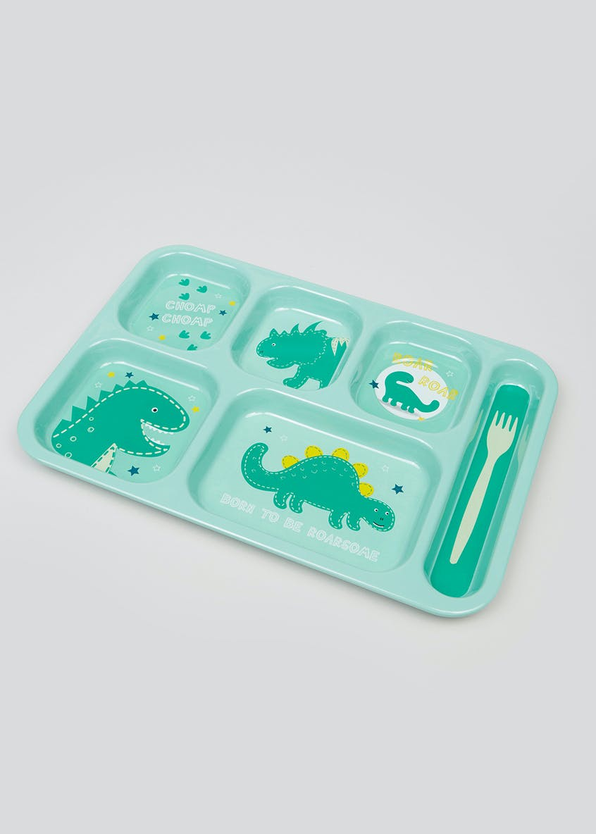 Kids Dinosaur Section Food Tray (37cm x 25cm)