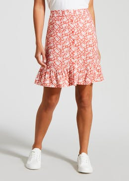 Floral Button Through Skirt