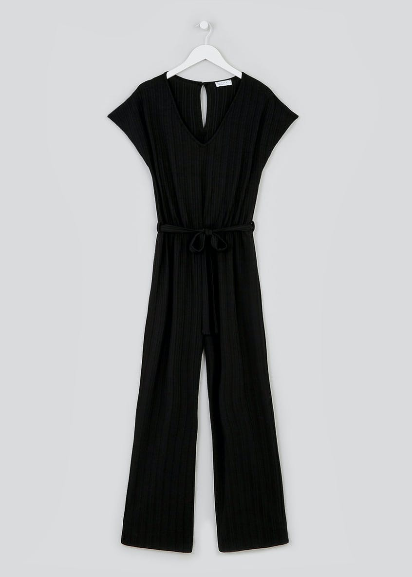Ribbed Wide Leg Jumpsuit