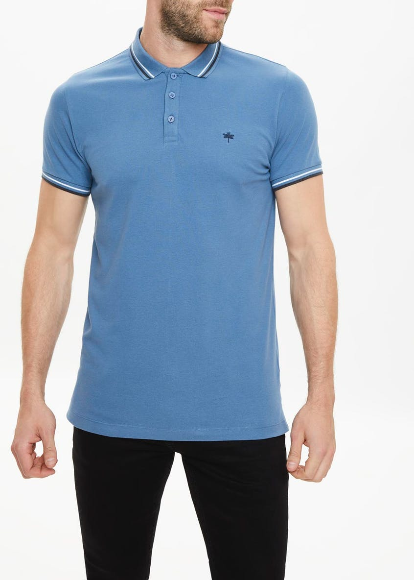 Big & Tall Short Sleeve Tipped Polo Shirt
