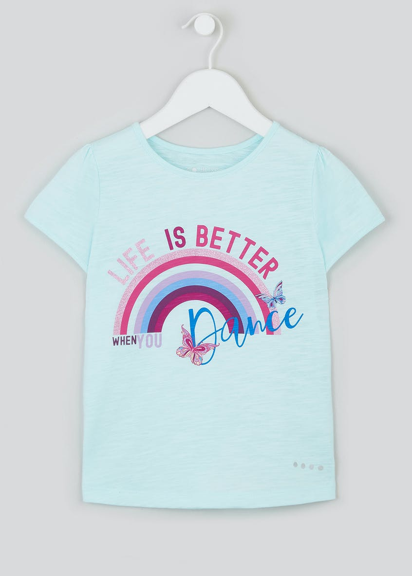 Girls Souluxe Dance Slogan T-Shirt (4-13yrs)