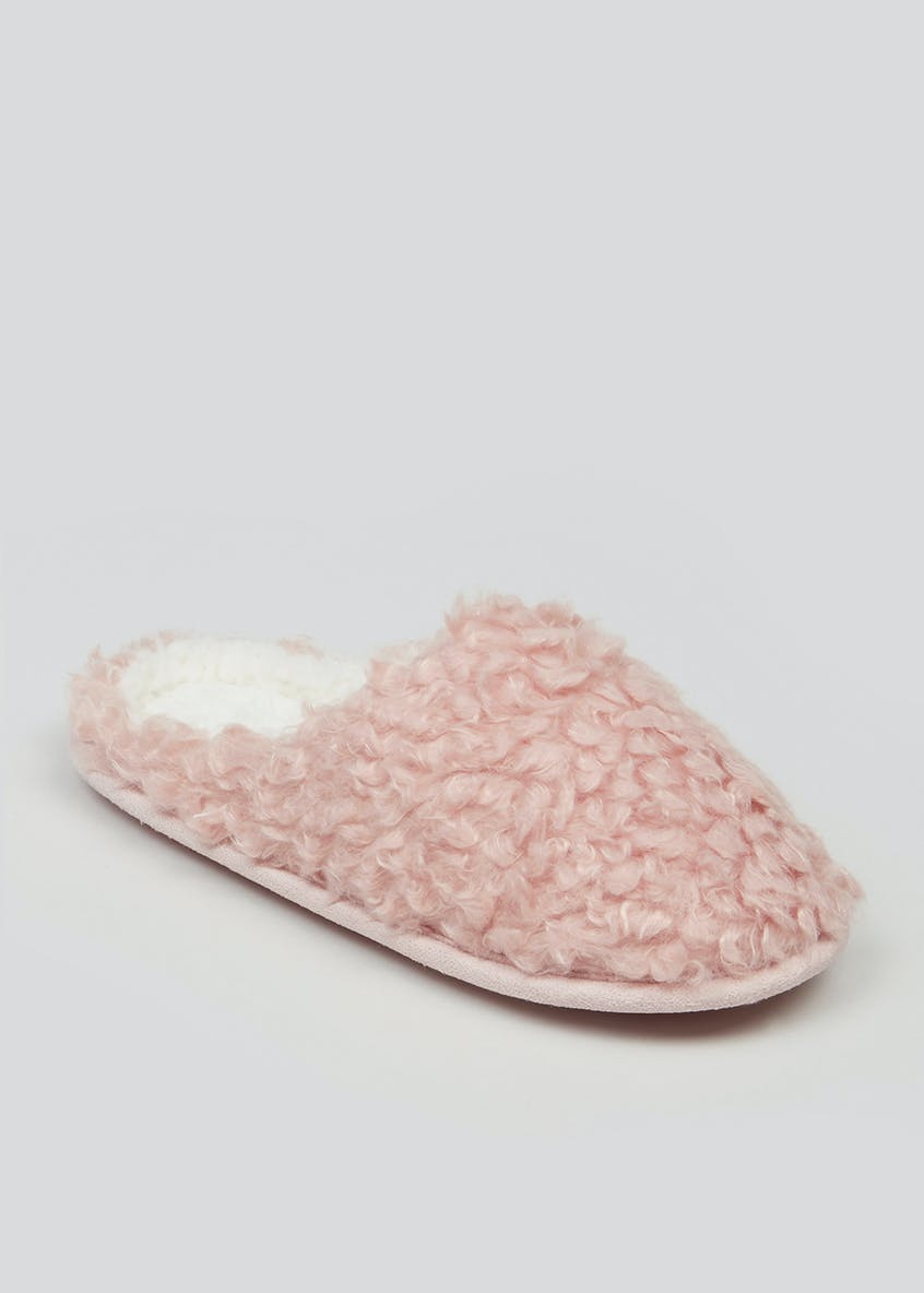 Teddy Faux Fur Mule Slippers