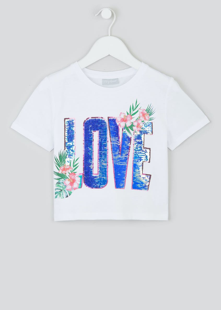 Girls Sequin Love Top (4-13yrs)