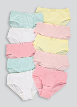 Girls 10 Pack Briefs (2-13yrs)