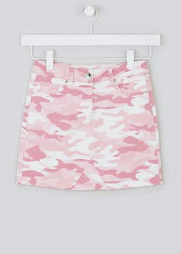 Girls Denim Camo Skirt (4-13yrs)