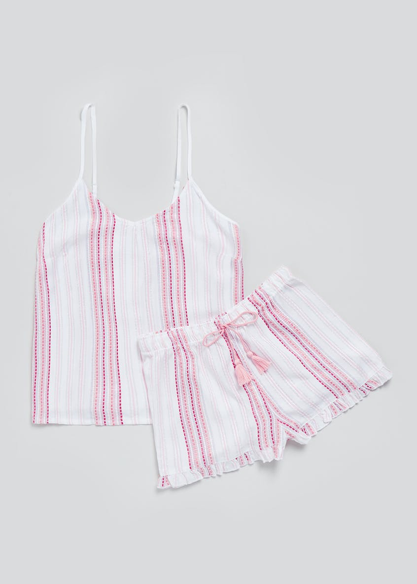 Dobby Stripe Short Pyjama Set