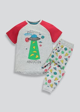 Kids Space Pizza Pyjama Set (4-13yrs)