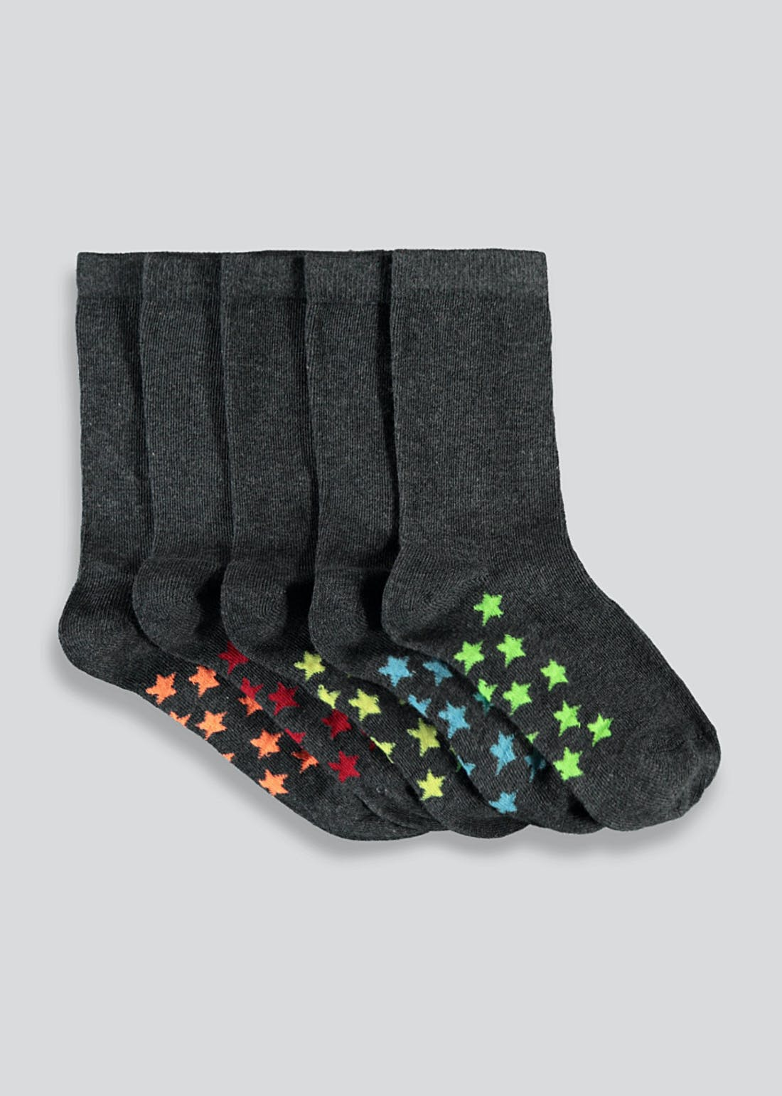 Kids 5 Pack Star Socks (Younger 6-Older 6.5)