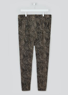 Papaya Curve Printed Harem Trousers