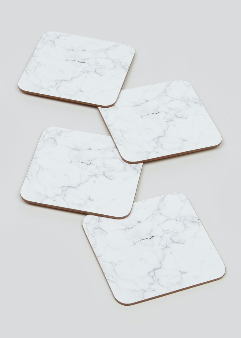 4 Pack Marble Coasters (11cm)