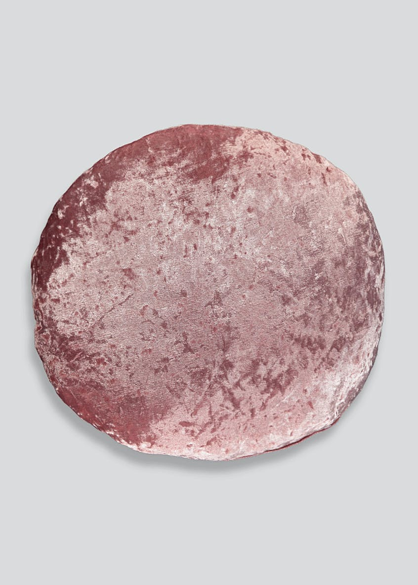Round Crushed Velvet Cushion (40cm)