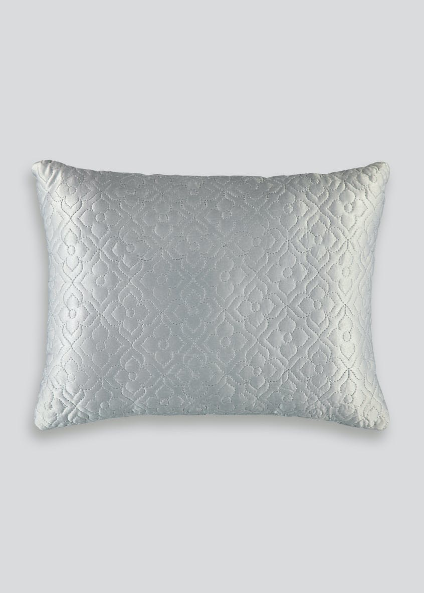 Quilted Embroidered Cushion (40cm x 30cm)