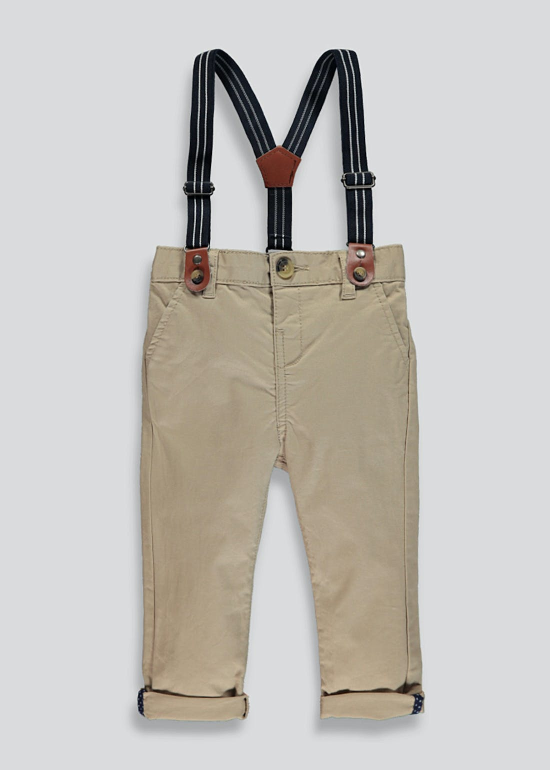 Boys Chinos With Braces (9mths-6yrs)