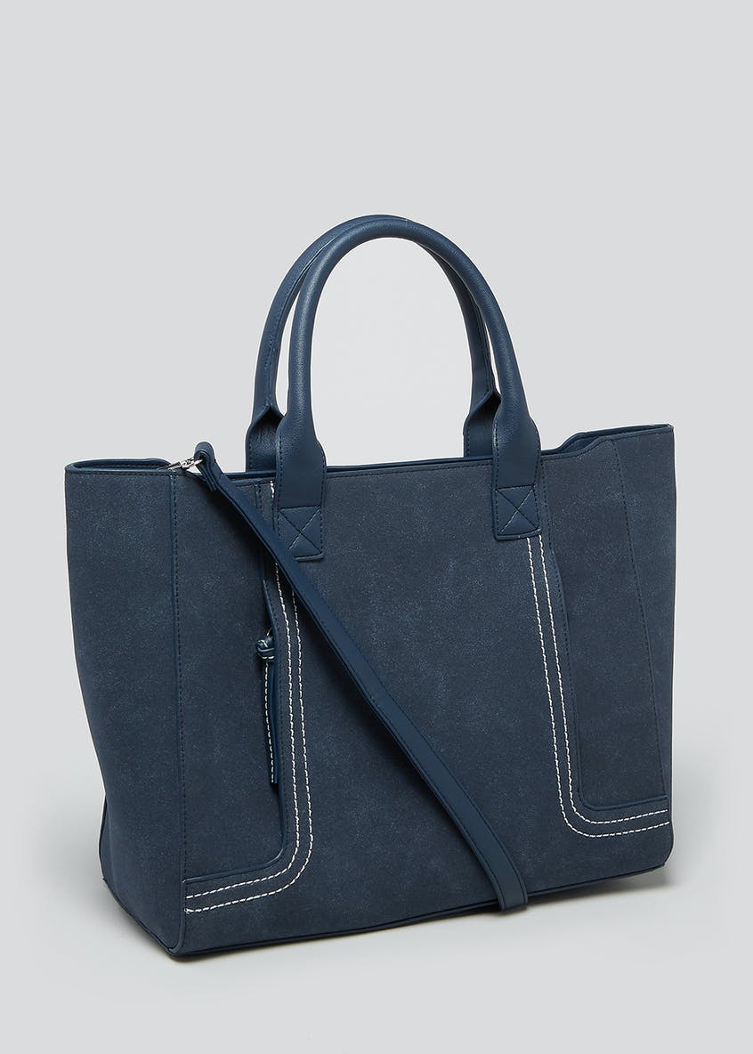 Tab Stitch Tote Bag