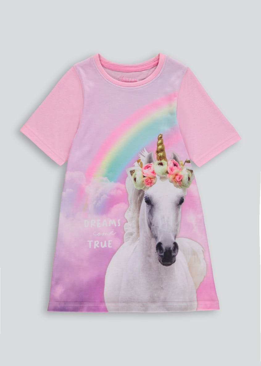 Girls Unicorn Nightie (4-13yrs)