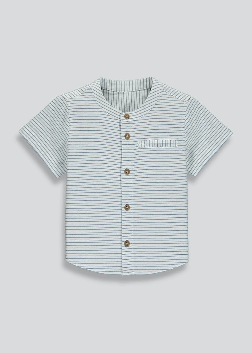 Boys Stripe Grandad Collar Shirt (9mths-6yrs)