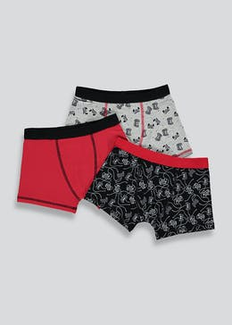 Boys 3 Pack Gaming Trunks