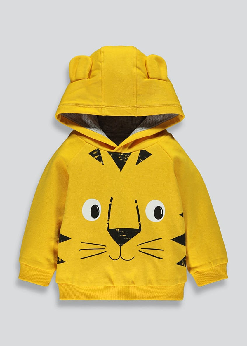 Boys Tiger Brushback Hoodie (9mths-6yrs)