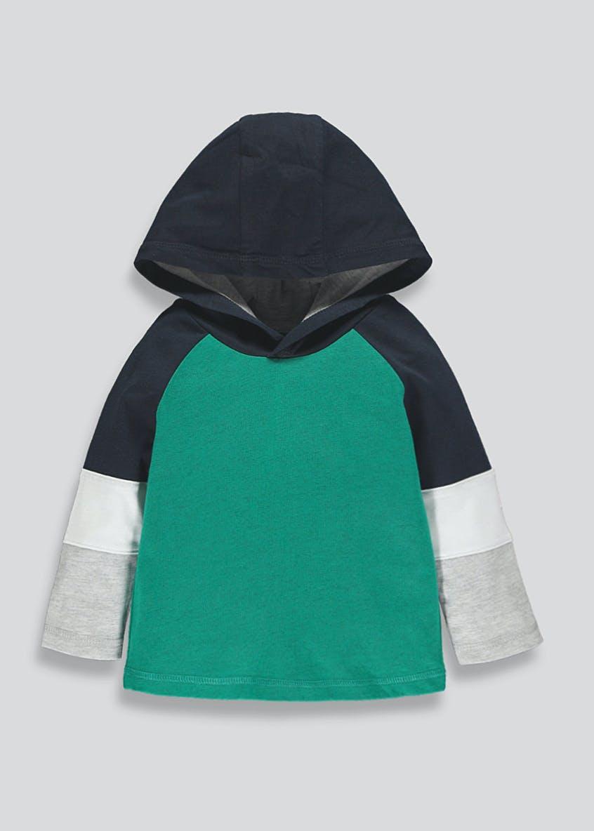 Boys Jersey Contrast Hoodie (9mths-6yrs)