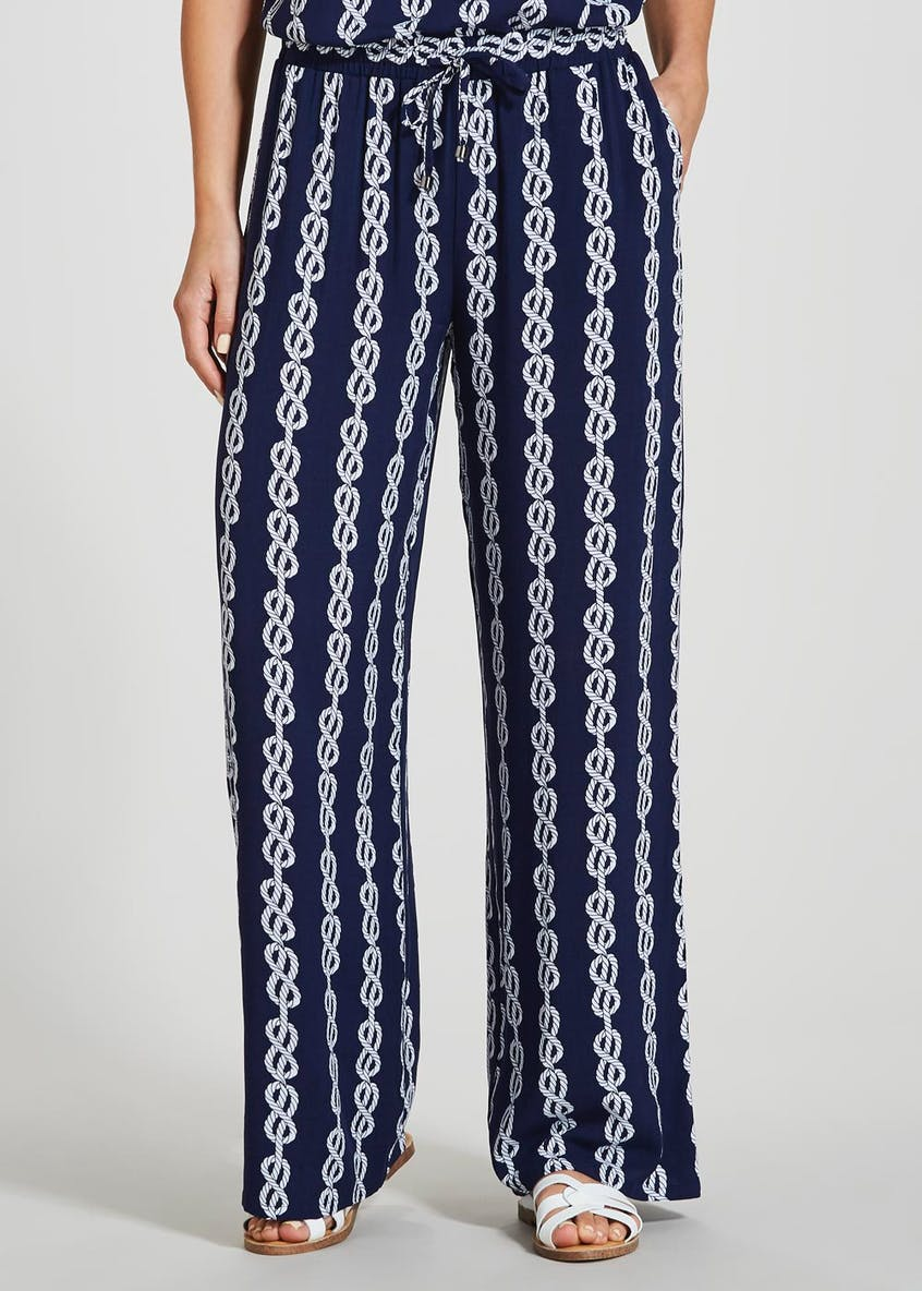 Rope Print Wide Leg Co-Ord Trousers