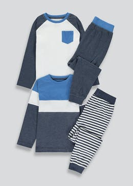 Boys 2 Pack Pyjamas (4-13yrs)