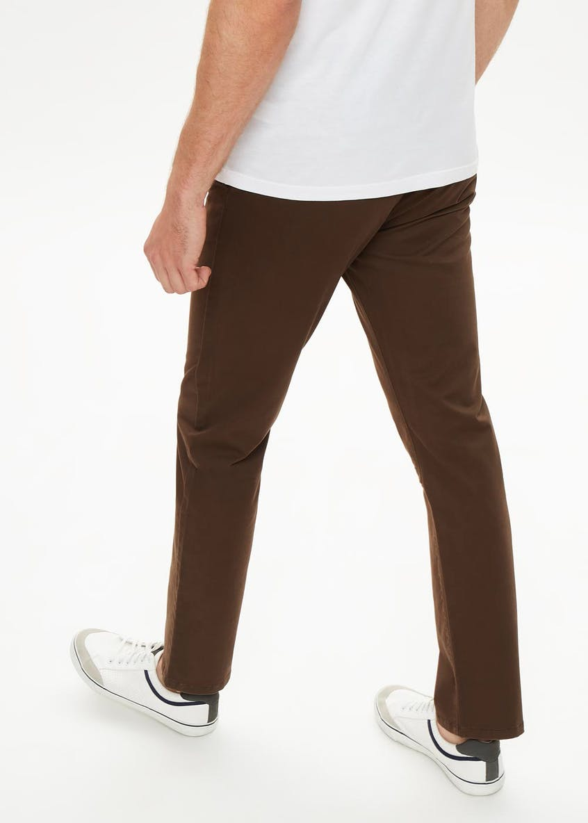 Straight Fit Stretch Chino Trousers