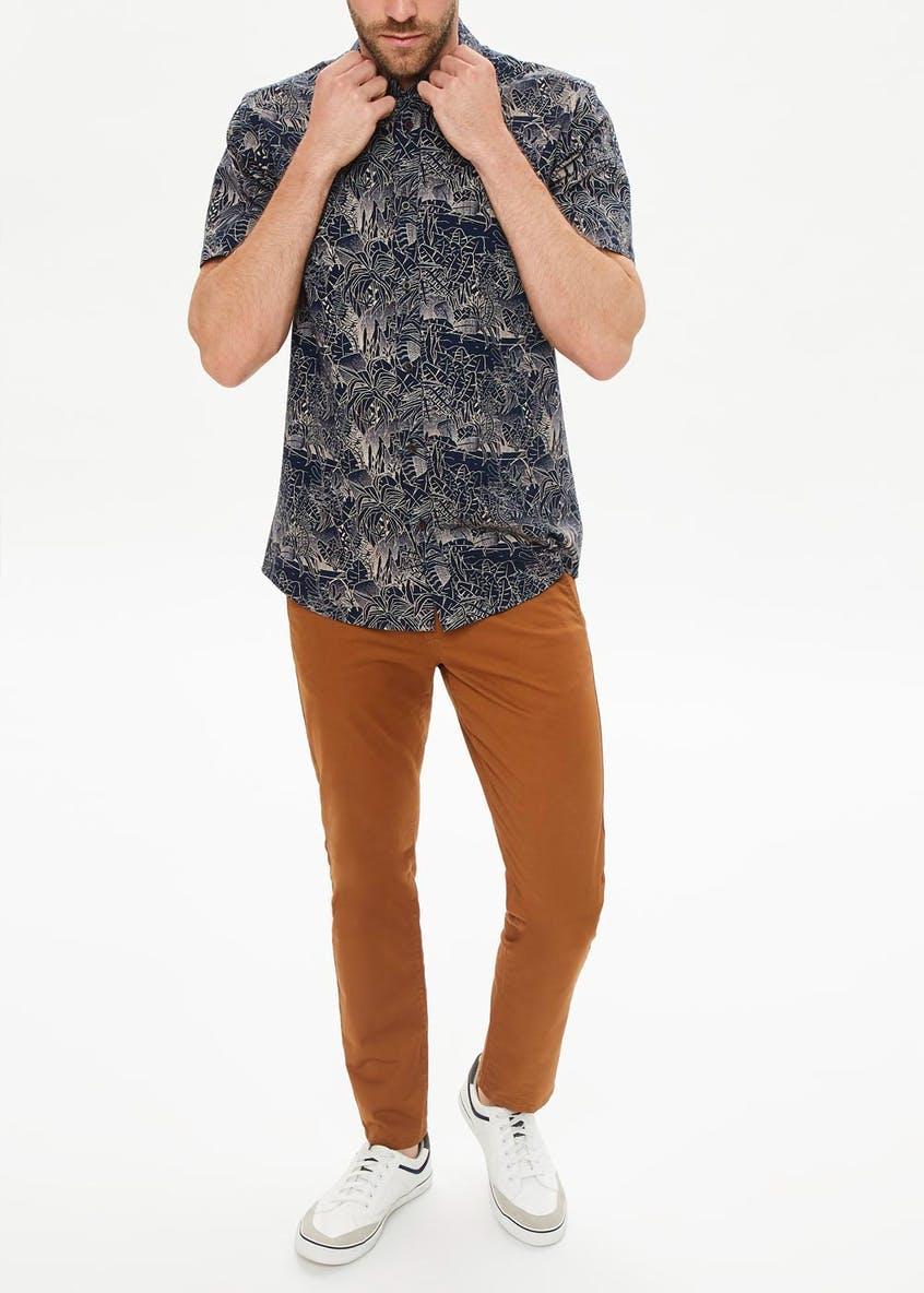 Short Sleeve Jungle Print Shirt