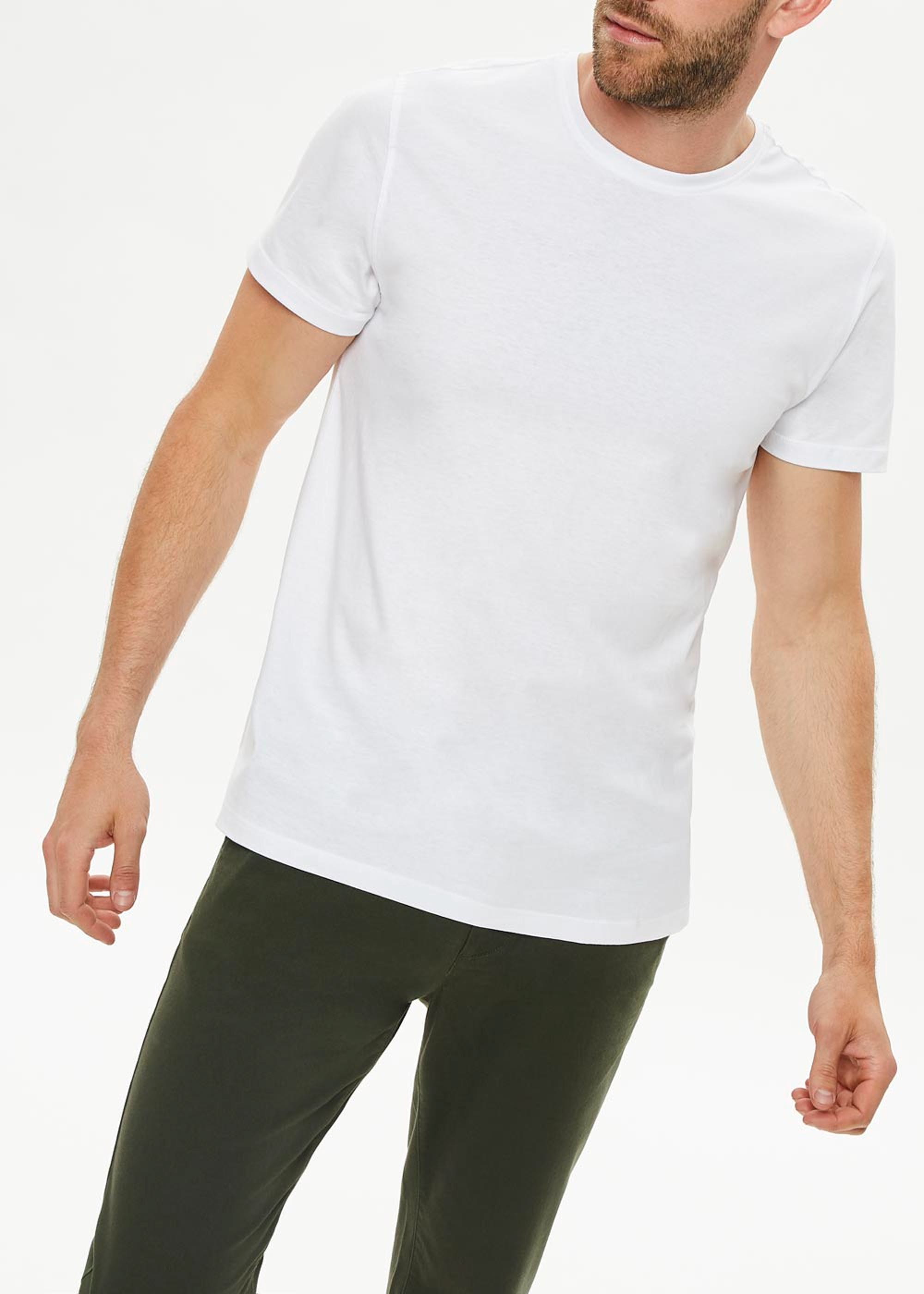 Basic Crew Neck T-Shirt White nQsYtq