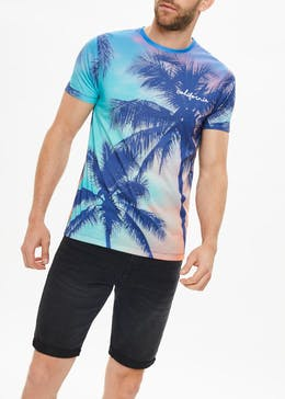 Palm Tree Sublimation Print T-Shirt