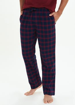 2 Pack Check Pyjama Bottoms