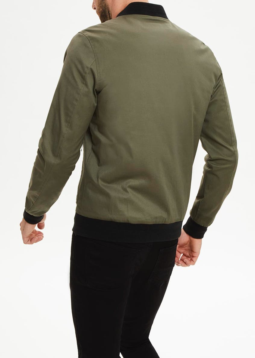 Big & Tall Khaki Twill Bomber Jacket